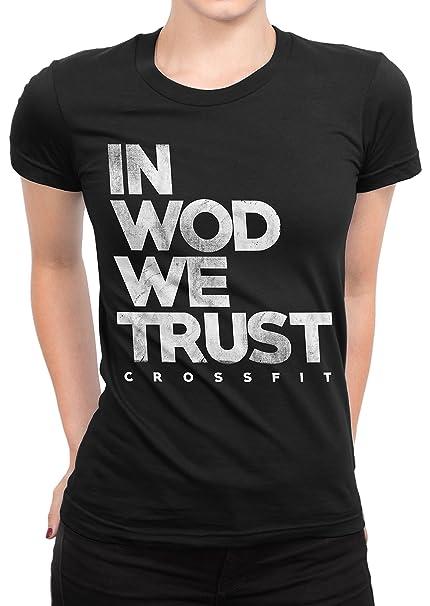 Camiseta Mujer In Wod We Trust - Camiseta crossfit 100% algodòn LaMAGLIERIA: Amazon.es: Ropa y accesorios