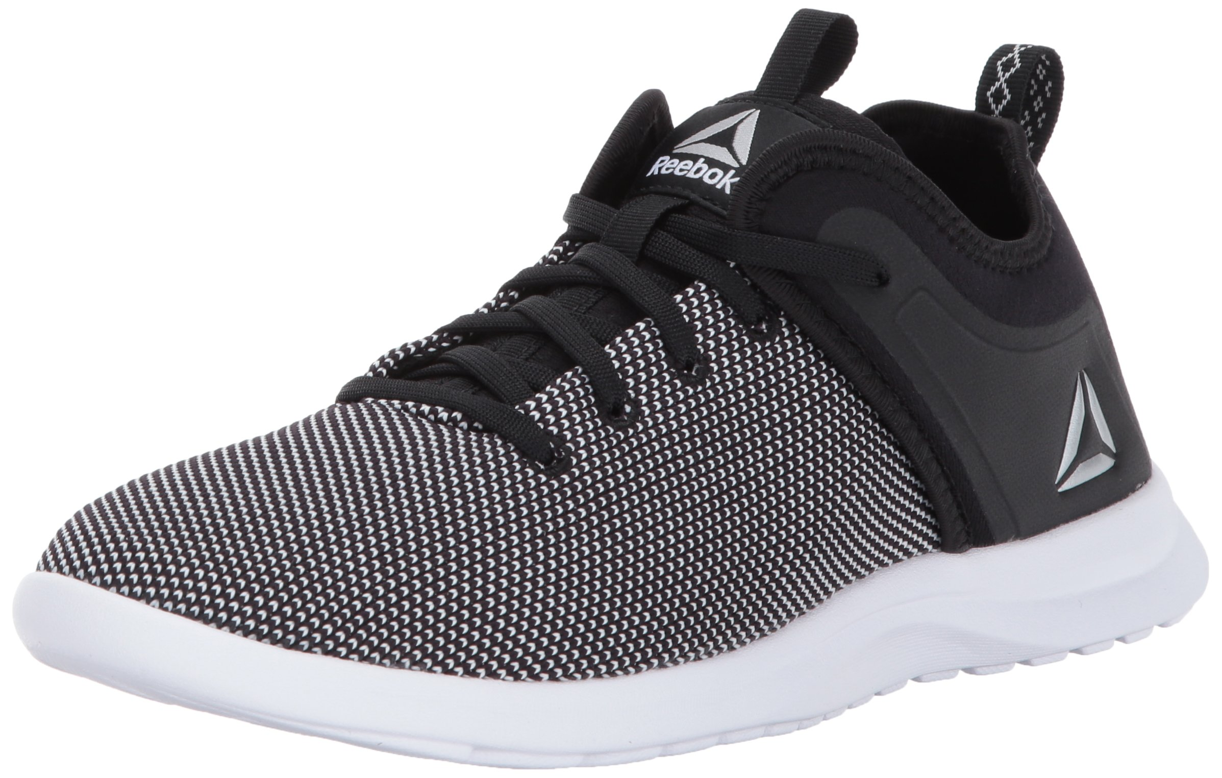 Reebok Women's Solestead Track Shoe, Black/White, 7.5 M US