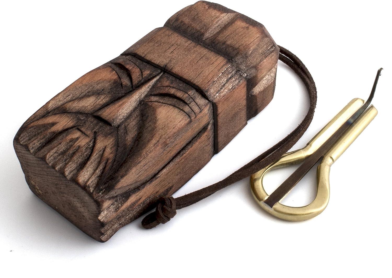 유대인 하프 파벨 POTKIN WITHSHAMAN 나무 케이스에 의해 가중 혀와 작은 바르간