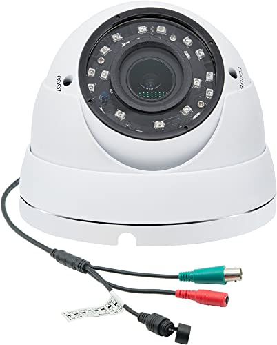 Taber 1080p Dome Camera 2mp TVI AHD CVI 960H 4 in 1, 2.8-12mm Wide Angel Lens, 4 Times Zoom in, Night Version up to 120ft, Surveillance Cameras