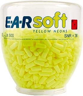 3M E-A-Rsoft Botella para dispensador de tapones desechables Amarillo NEÓN 36 dB (500 pares/botella), 500 Par,…