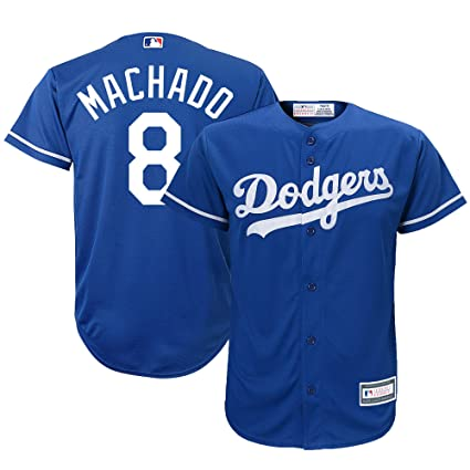 Outerstuff Los Angeles Dodgers  8 Manny Machado Youth Majestic Replica  Player Jersey (Blue 949a10b738b