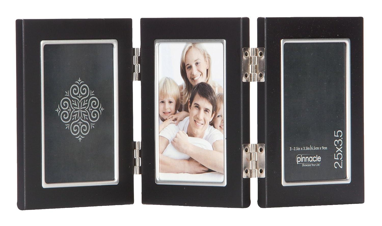 Amazon.de: Pinnacle Rahmen schwarz Metall Rahmen mit Innen Silber ...