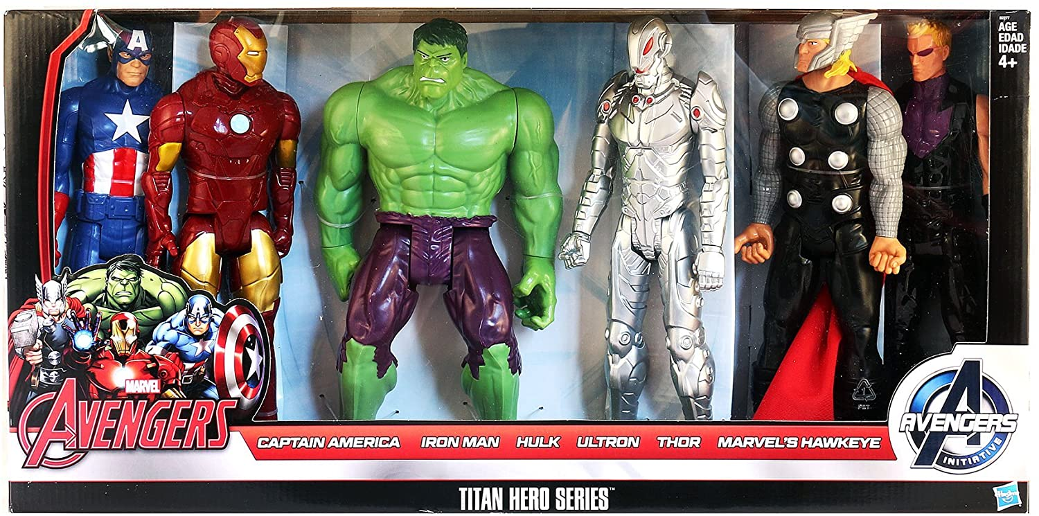 Marvel Avengers Titan Hero Series 6 Pack: Captain America, Iron ...
