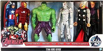 Marvel Avengers Titan Hero Series 6 Pack: Captain America, Iron ...
