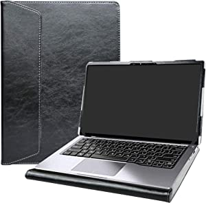 """Alapmk Protective Case Cover for 14"""" Dell Latitude 14 2-in-1 7400/Dell Latitude 9410 2-in-1 & ASUS ZenBook 14 Q407IQ Q407IQ-BR5N4 Series Laptop[Not fit Latitude 14 7410 7400 7480 7490],Black"""