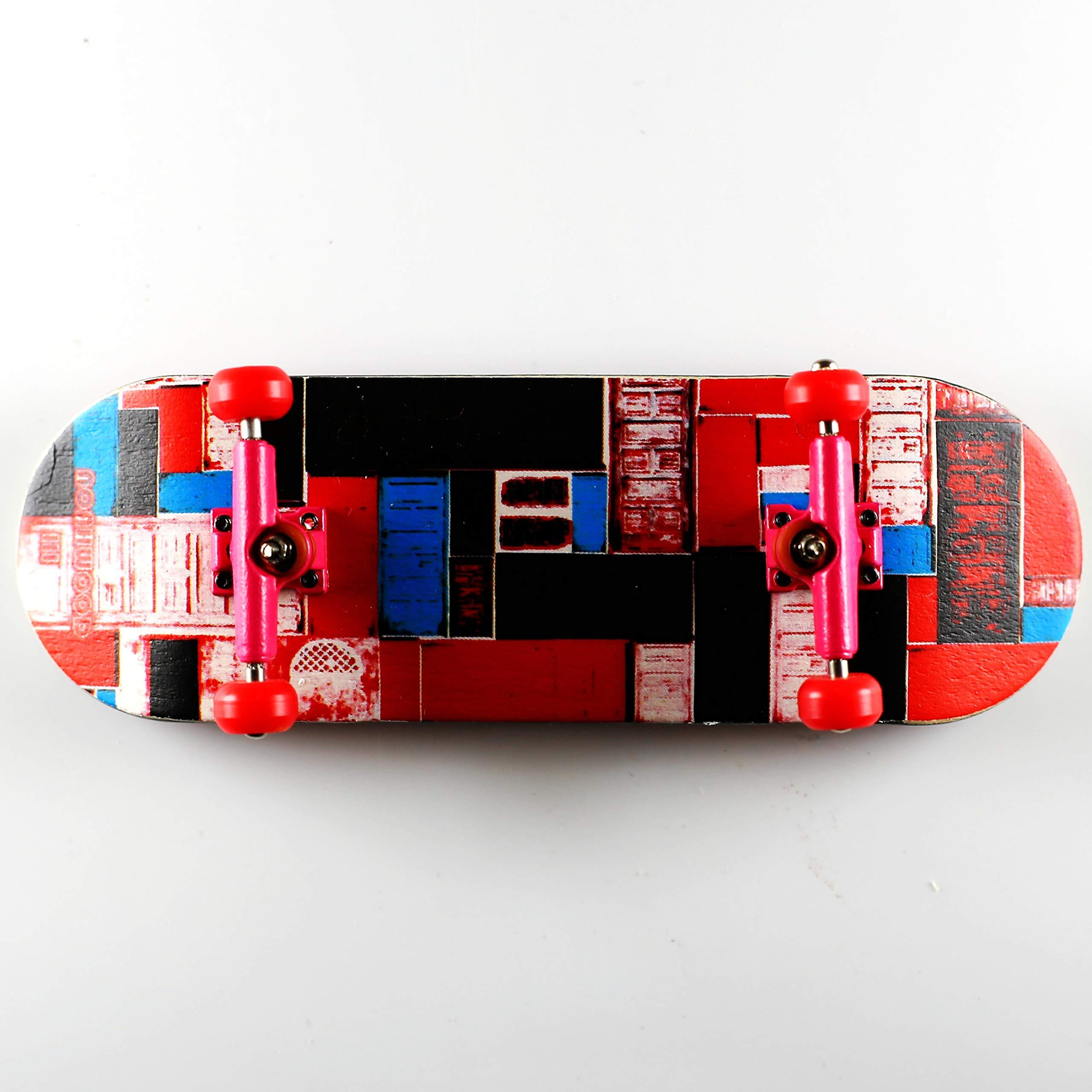 NOAHWOOD Wooden PRO Fingerboards (Deck,Trucks,Wheels a Set) (Door iii Set, 100x32mm)