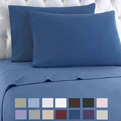Amazon Com Thermee Micro Flannel Shavel Home Products Sheet Set King Country Blue Garden Outdoor