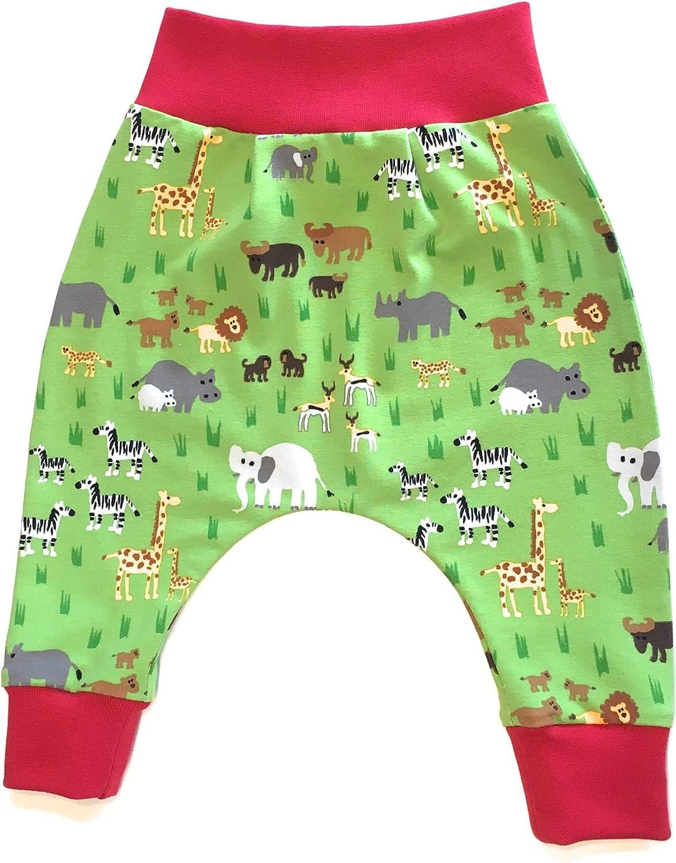 Made in Germany Balna Baby Pumphose Zoo-Tiere Kinder Hose Rot Gr/ün