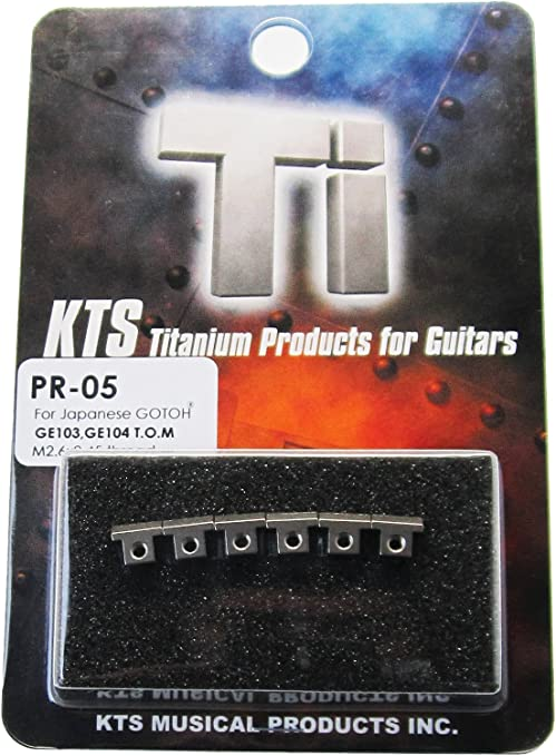 KTS Titanium Tune-O-Matic Saddles for the /'Nashville/' style bridges