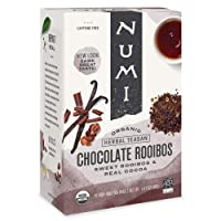 Numi Organic Tea Chocolate Rooibos, 16 Count Box of Tea Bags (Pack of 3) Herbal...