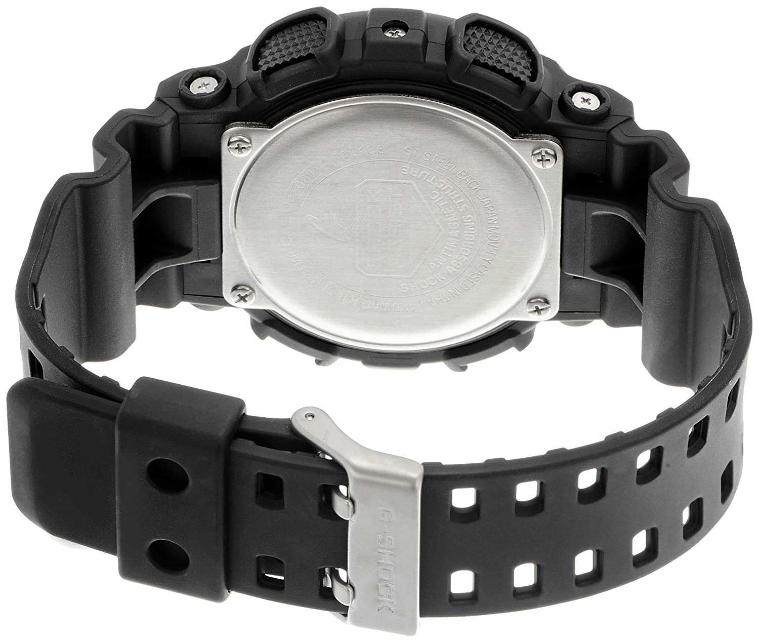 Buy casio g shock analog digital black dial mens watch ga 100 buy casio g shock analog digital black dial mens watch ga 100 1a1dr g270 online at low prices in india amazon fandeluxe Choice Image