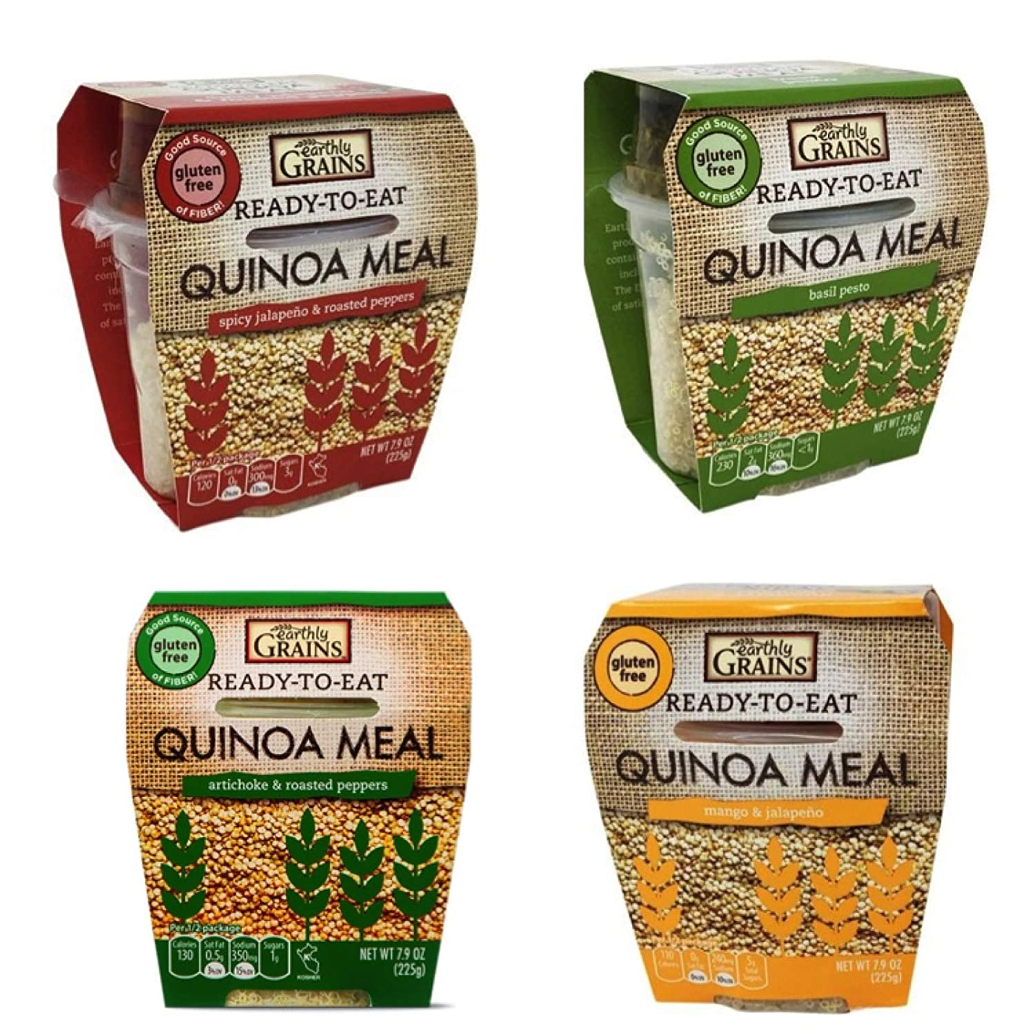 Earthly Grains Quinoa Ready to Eat MEAL variety pack - 8 oz