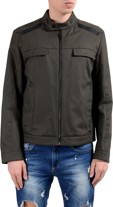Hugo Boss Bapinu Mens Dark Green Full Zip Stretch Jacket Size US XL IT 54