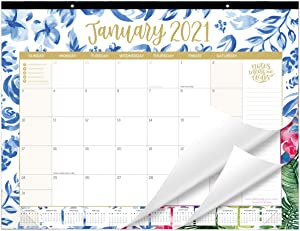"bloom daily planners 2021 Calendar Year Desk/Wall Monthly Calendar Pad (January 2021 - December 2021) - Large 21"" x 16"" Hanging or Desktop Blotter - Seasonal Designs"