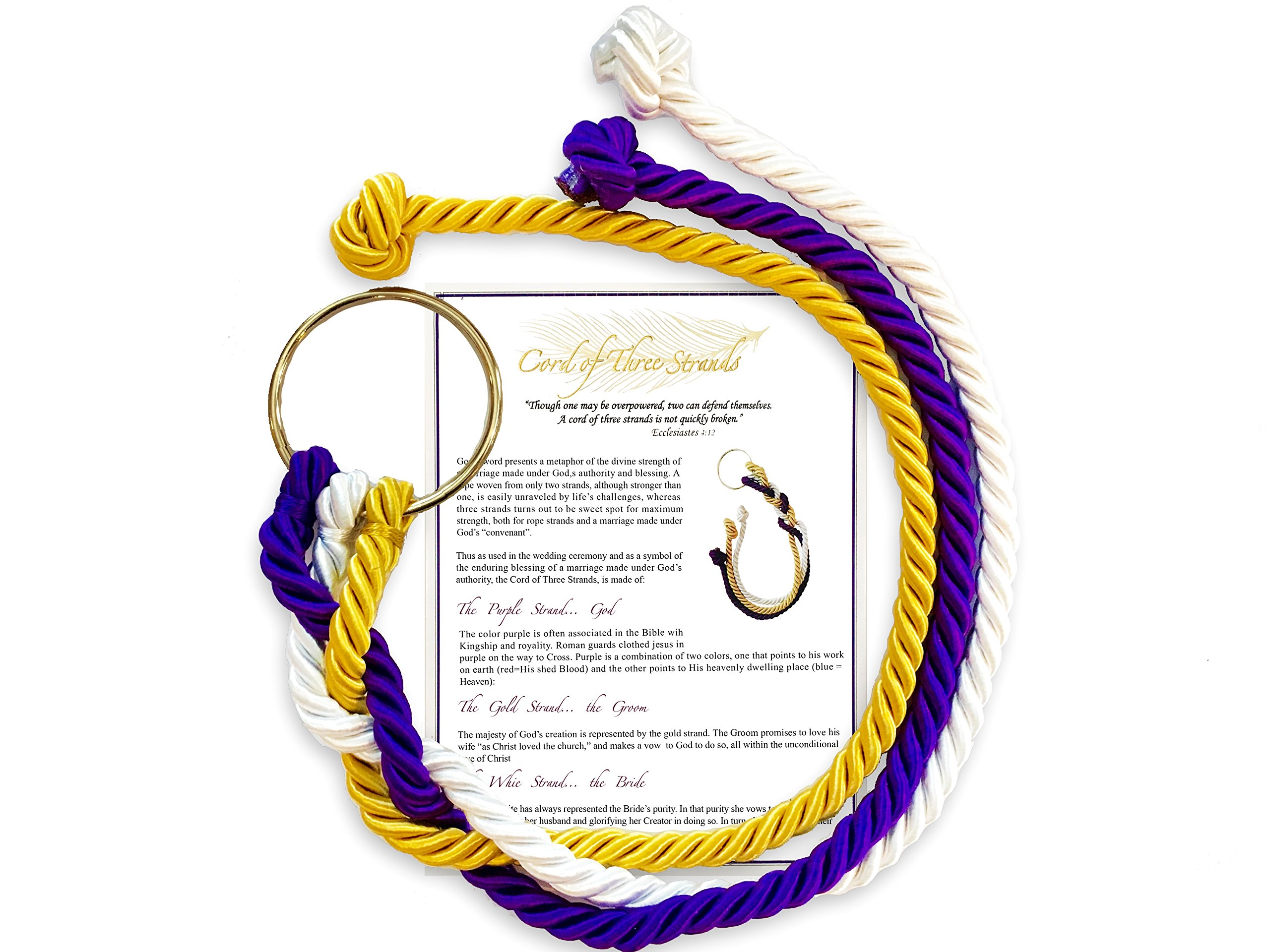 A Stunning Cord of Three Strands Wedding Knot with Ceremony Card by Wedding Bells Pro by Wedding Bells Pro