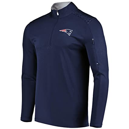 VF New England Patriots Men s Majestic Ultra Streak 1 2 Zip Performance Top  - Navy 87e461ae9