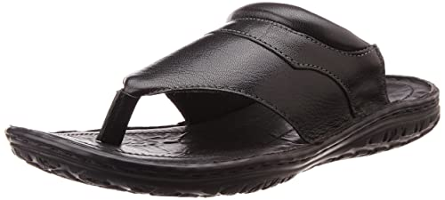 a2fbe0b3648a Image Unavailable. Image not available for. Colour  Franco Leone Men s  Black Leather Flip Flops Thong Sandals ...
