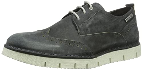 Crispy M, Zapatos de Cordones Brogue para Hombre, Marrón (Brown), 45 EU Yellow Cab
