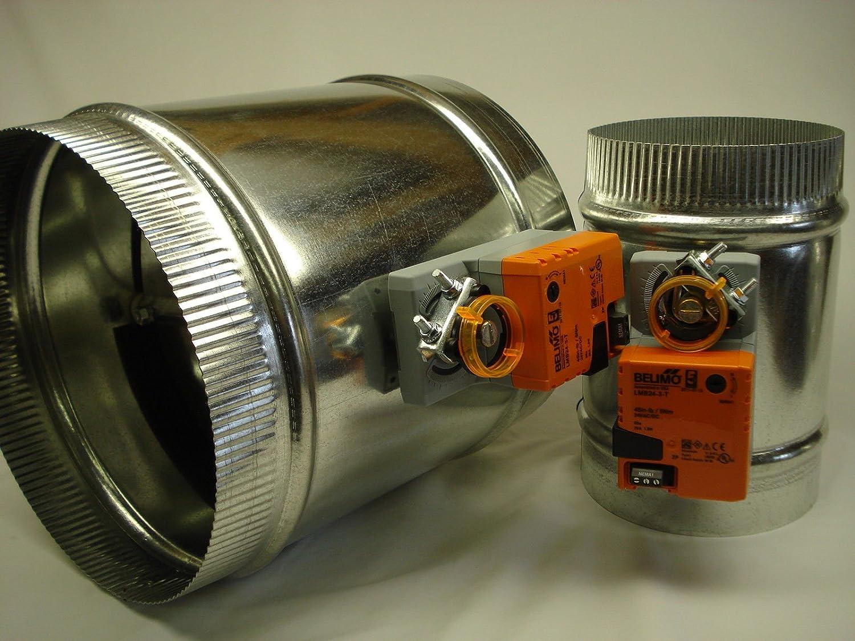 9 inch Simplex 3 wire Motorized 24v round zone control damper w//end switch NO