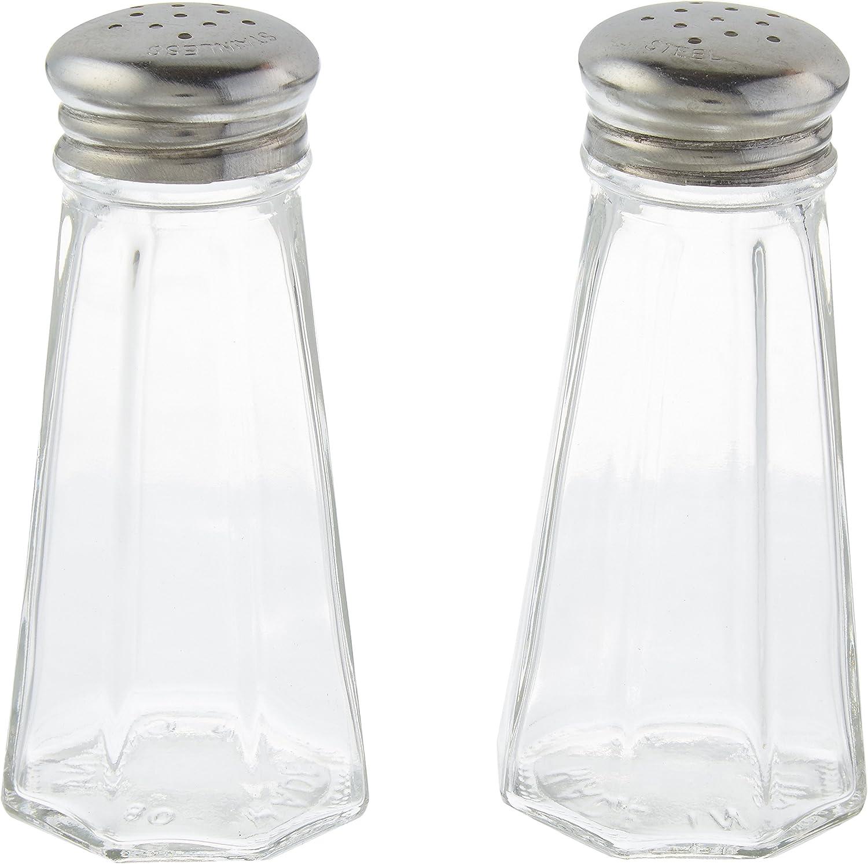3 Ounce Stainless Steel Paneled Salt /& Pepper Shaker