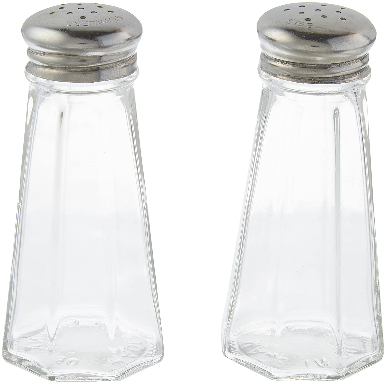 3 Ounce Stainless Steel Paneled Salt & Pepper Shaker