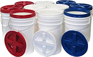 6 Gallon Pail Kit with Gamma Seal Lids, 10-pack