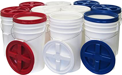 Multiple Colored Gamma Seal Lids Case of 6