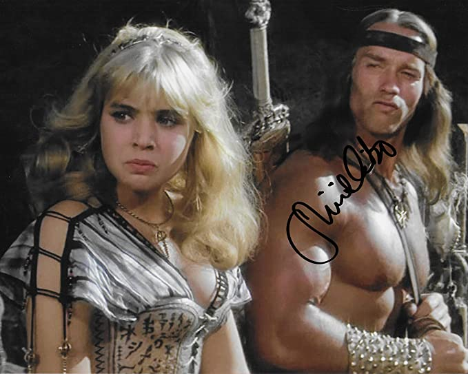 Olivia DAbo Conan the Destroyer 4 autographed 8X10 photo