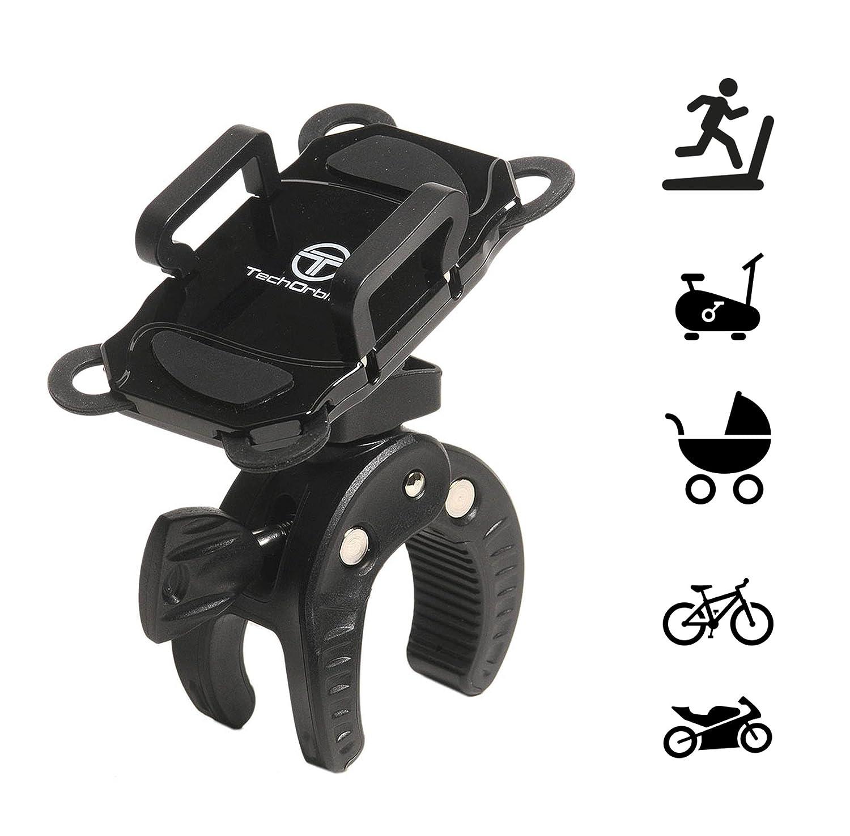 TechOrbits Universal soporte para teléfono celular de soporte para bicicleta de manillar de moto para iphone 6/7/8 Samsung Galaxy LG HTC y más: Amazon.es: ...