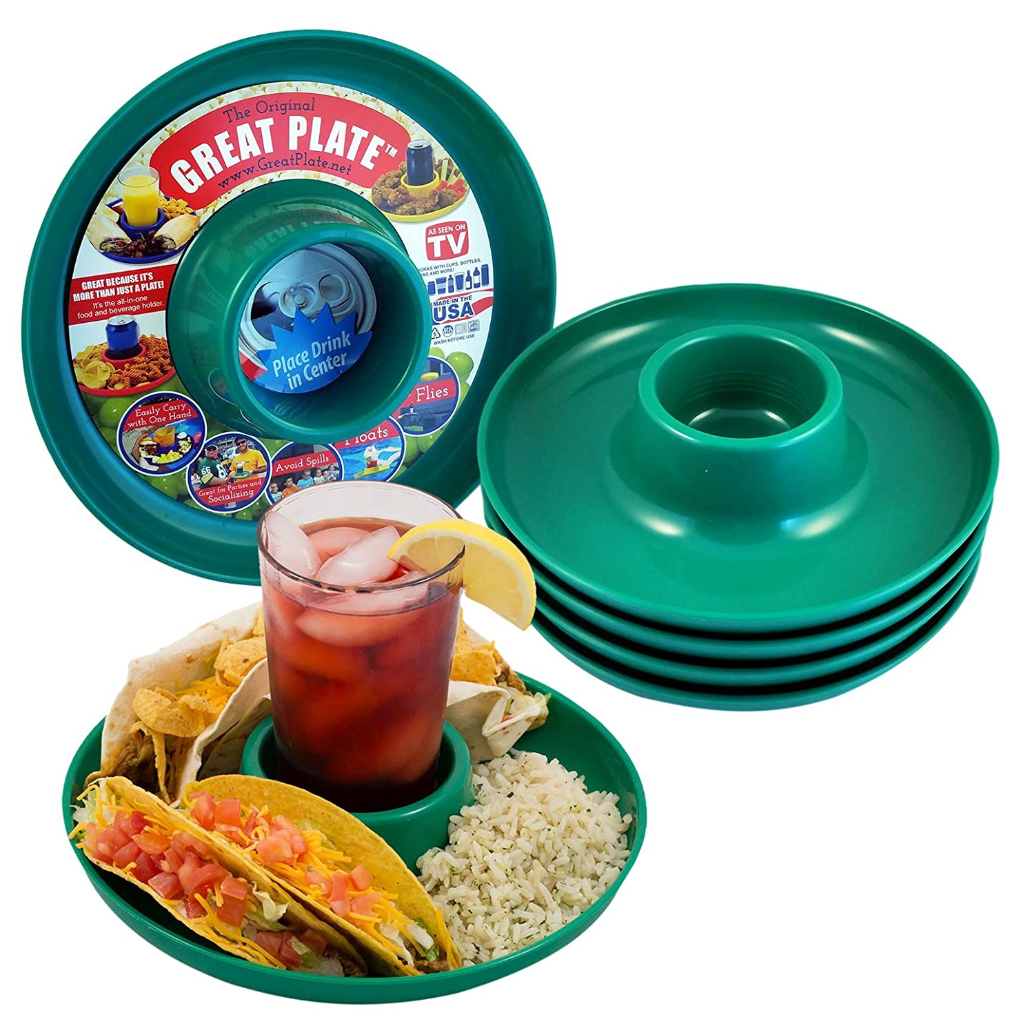 Great Plate Food Beverage Plate (Green) by Great Plate   B01FKZUY3M