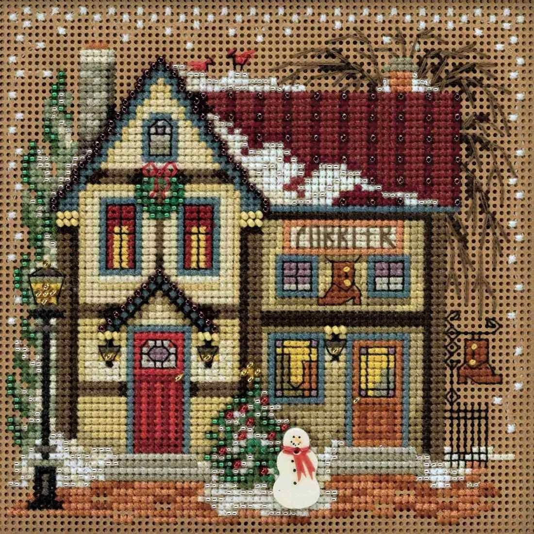 Town Hardware Cross Stitch Kit Mill Hill 2016 Buttons /& Beads Winter MH141631