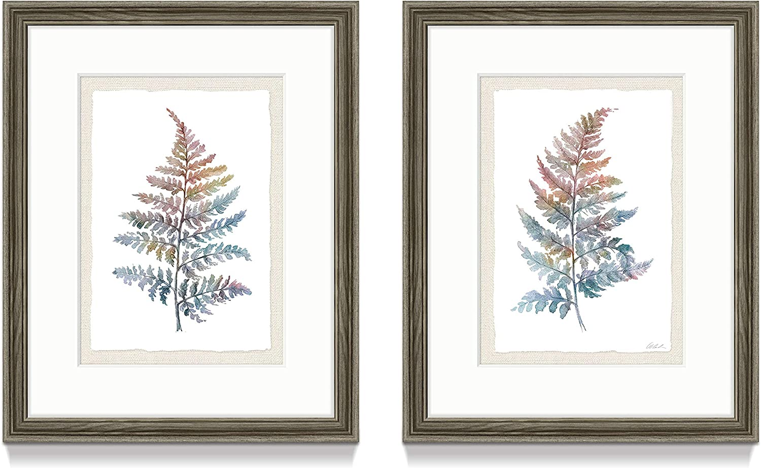 Herb Plant Framed Wall Art – Set of 2 Beautiful Elegant Botanical Picture Prints with Wood Frame for Decor Trendy Dining Room or Bathroom(11'' x 14'' x 2 Panels)