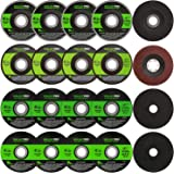 """GALAX PRO Grinding Discs, 20 Pack by 5PCS Grinding Wheel,10 PCS Cutting Wheel, 5 PCS Flap Disc with 4-1/2"""" Diameter and…"""
