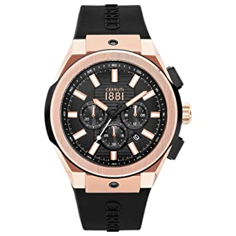 cbc591f9ae Buy Cerruti 1881 Analog Black Dial Men's Watch-CRA163SRB02BK Online ...