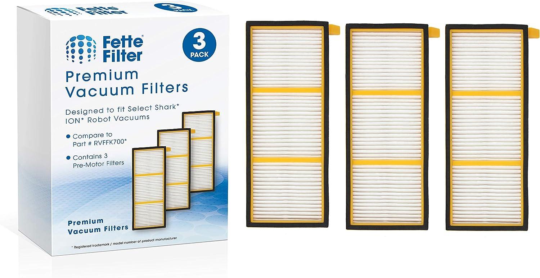 Fette Filter - Pre-Motor Filter Compatible for Shark ION Robot. Compare to # RVFFK700 (Pack of 3)