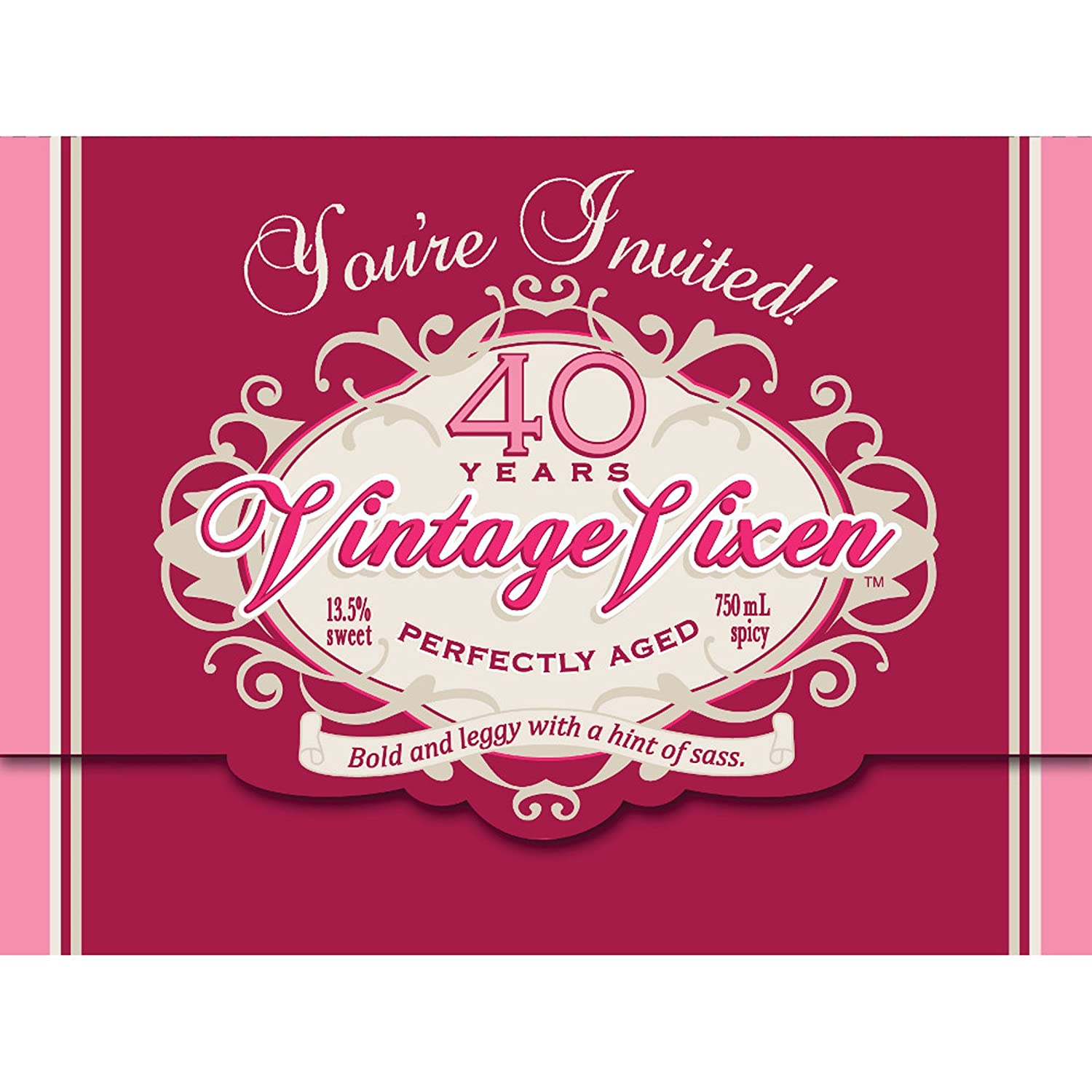 Amazon Creative Converting Vintage Vixen 8 Count 40th Birthday Party Invitations Kitchen Dining