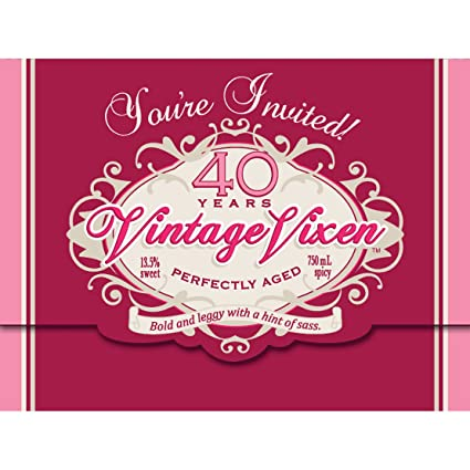Image Unavailable Not Available For Color Creative Converting Vintage Vixen 8 Count 40th Birthday Party Invitations