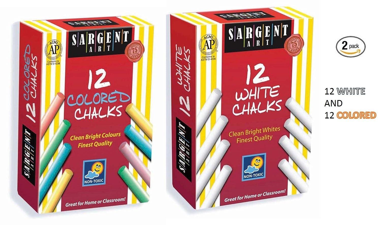 Sargent Art 66-2012 12-Count White Dustless Chalk (2)