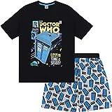 Doctor Who Tardis Official Gift Boys Kids Loungewear Short Pyjamas