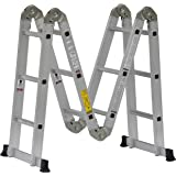 Cuprum C-2096-13 Escalera Multiposiciones de Aluminio de 3.35m y 150 Kg de Capacidad de Carga