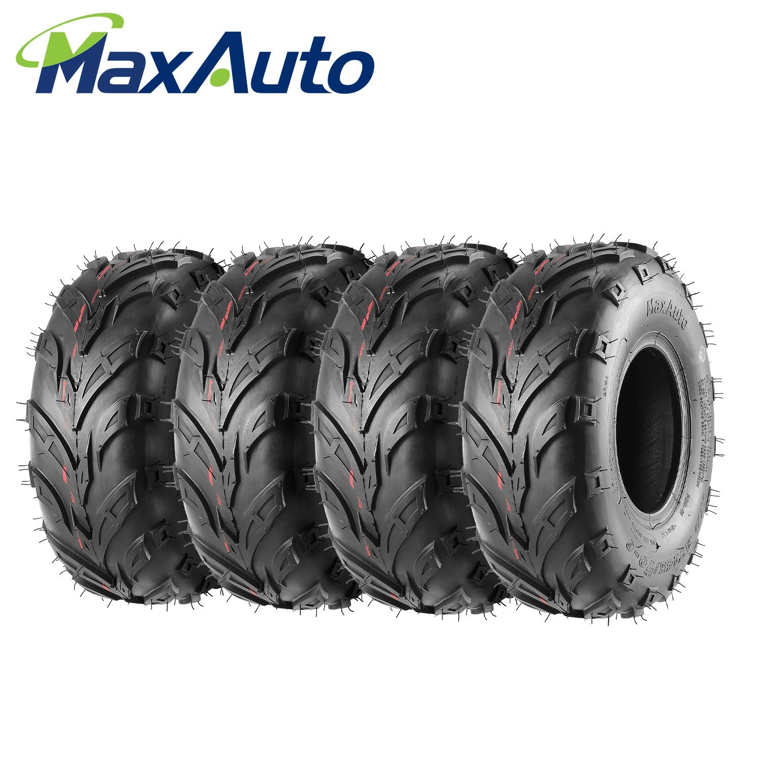Pack of 4 Sport ATV Tires 145/70-6, 145x70-6 4Ply Go-Kart Lawn mini bike Tires by MaxAuto (Image #1)