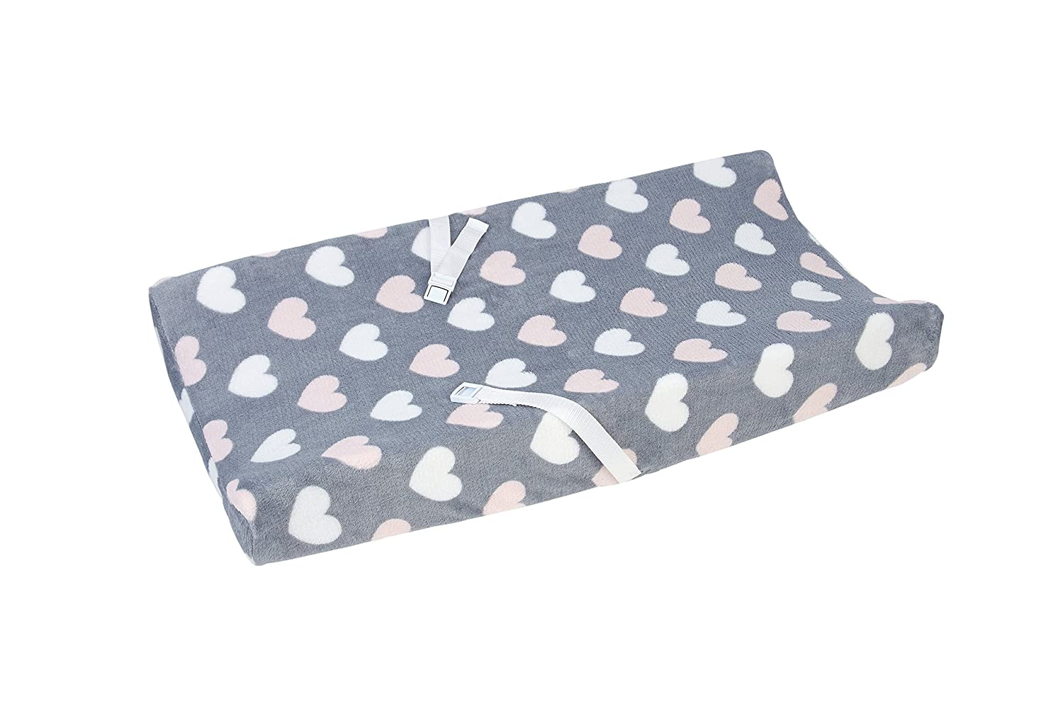 Little Love by NoJo Changing Table Cover, Hugs and Kisses Crown Craft Infant Products 3585357