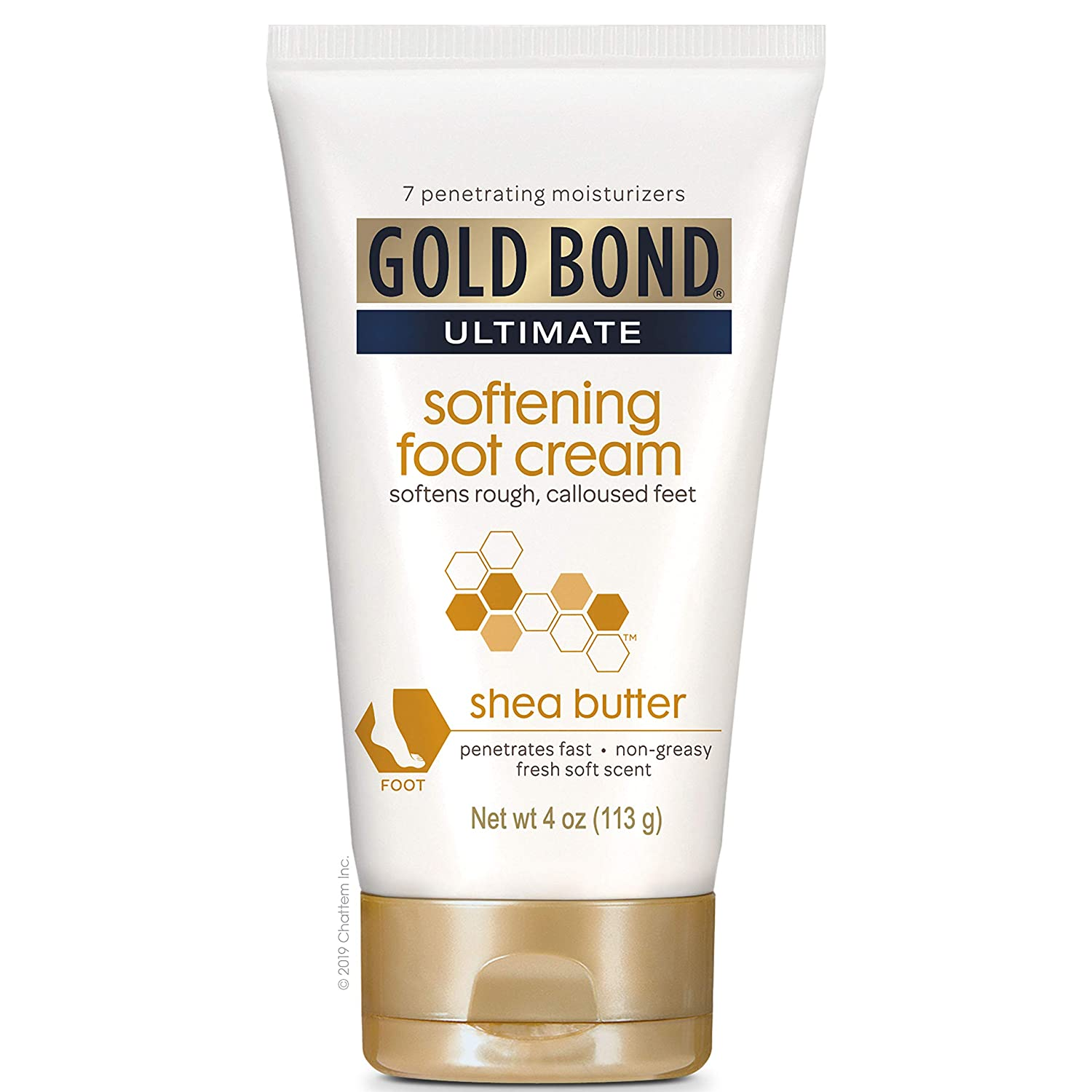 Gold Bond Ultimate Softening Foot Cream with Shea Butter, 4 Ounce, Leaves Rough, Dry, Calloused Feet, Heels, and Soles Feeling Smoother and Softer. Includes Vitamins A, C, E, and Silk Amino Acids.: Health & Personal Care