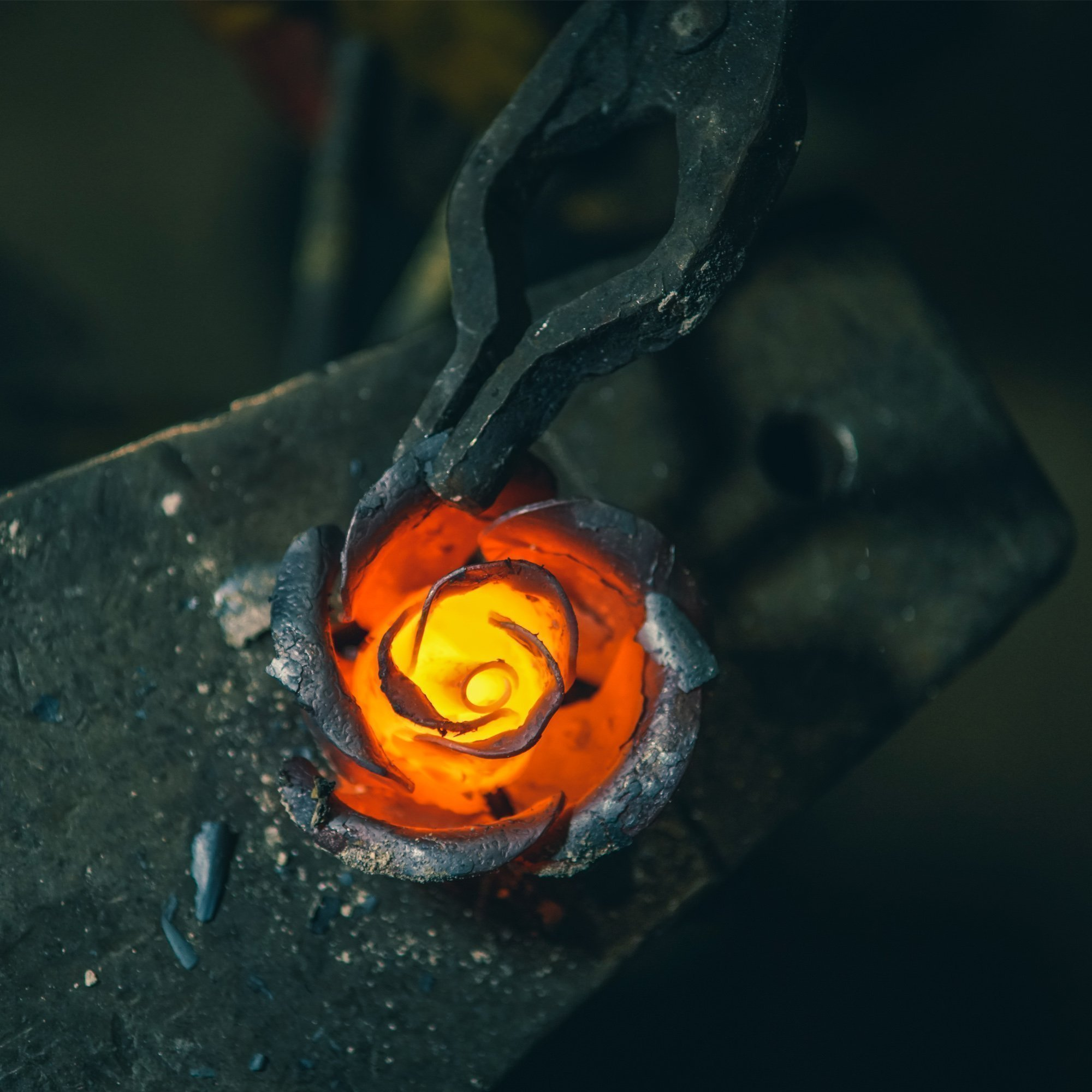 Hand Forged Iron Rose - 11th / 6th Year Wedding Anniversary Gift for Her/Red Metal Rose Steel Rose by MetalArt (Image #6)