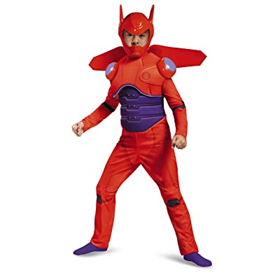Disney Red Baymax Big Hero 6 Deluxe Boys' Costume: Toys & Games