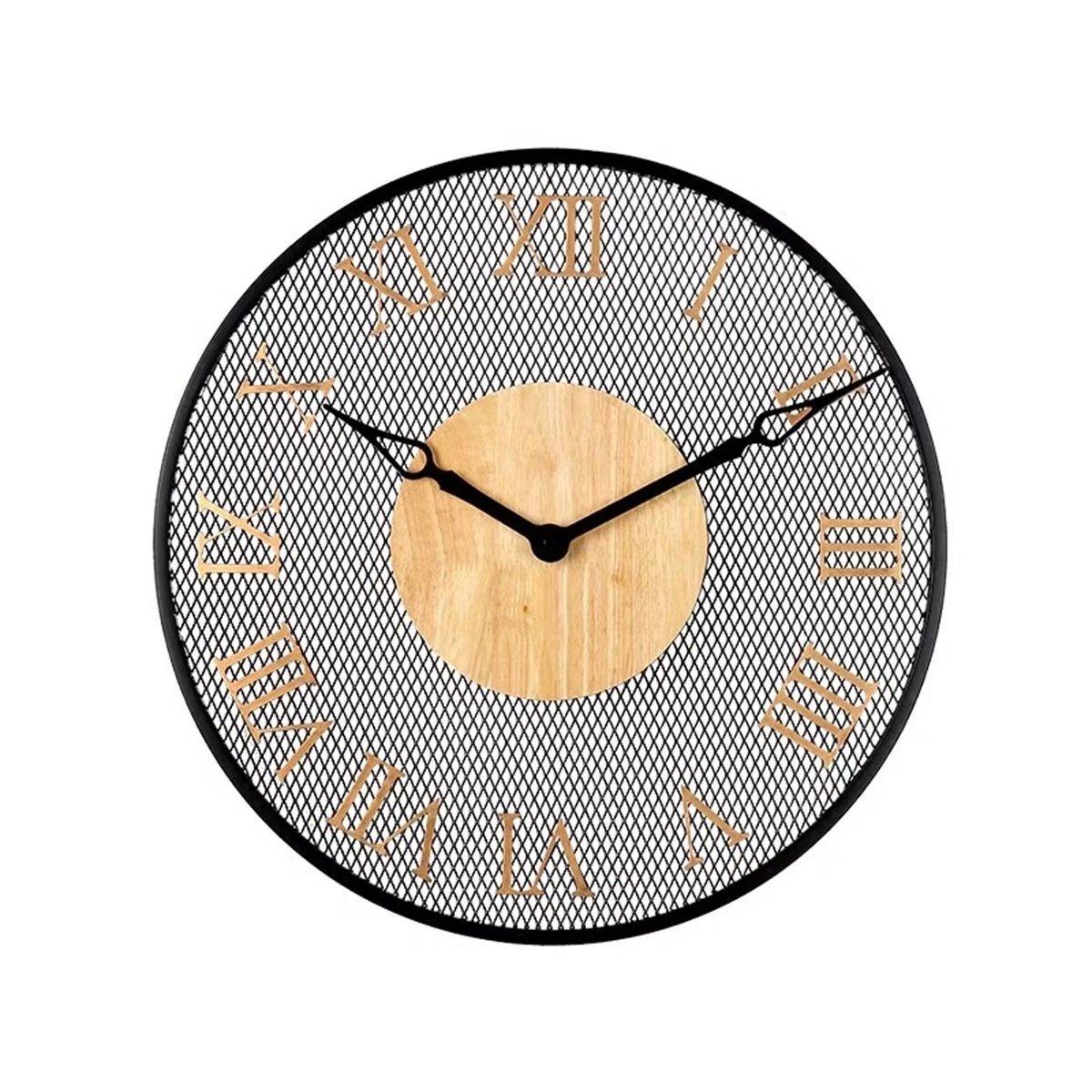 金属 壁掛け時計 掛時計 壁掛け 創意 復古 ヨーロッパ おしゃれ ファッションリビング EBODONG B07CW7KTDZタイプ1
