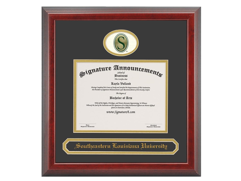 Professional//Doctor Sculpted Foil Seal /& Name Graduation Diploma Frame 16 x 16 Cherry Signature Announcements Southeastern-Louisiana-University Undergraduate