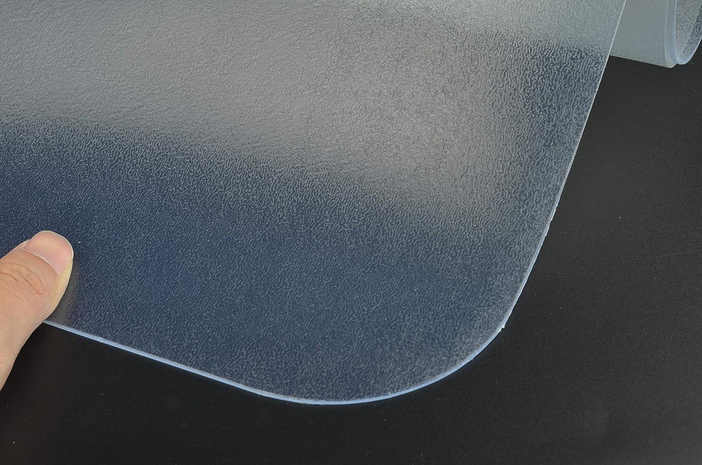 Transparente, 75x 120 cm Rectangular Estera de Protecci/ón para el Suelo Alfombrilla para Silla para Suelos Duros Protector de Suelo S SIENOC Estera de la Silla de PVC