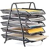 Halter Steel Mesh 5-Tier Shelf Tray Organizer for Desktop - Letter-Size - Black